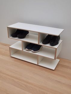 Offering our New 2019 - Shoe rack in birch / white laminate available in 4 different sizes options. These cabinets are made of wood to beautify your world. Shoe Storage Modern, Entryway Shoe Storage, Bench With Shoe Storage, White Shoe Rack, Bathroom Ladder, Shoe Storage Solutions, Wooden Shoe Racks, Shoes Stand, White Laminate