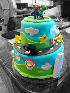 Another cute Mario Kart cake using fondant