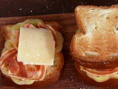 Claire makes a gourmet version of the classic grilled-cheese sandwich.