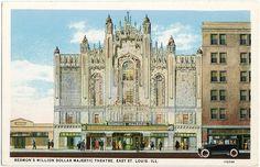 Redmon's Majestic, East St. Louis IL, 1928 by Roloff, via Flickr