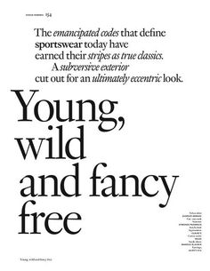 Young, wild and fancy free (Vogue Hommes)
