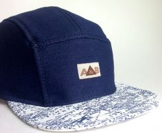 9f73499227a Handmade Five Panel Hat . 5 Panel Hat . Camp Cap . Summer Hat . 5panel cap.  Made and ready to ship