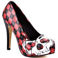 Skulls Platform - Black and Red, Iron Fist, $59.99, FREE 2nd Day Shipping!