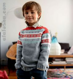 ALALOSHA: VOGUE ENFANTS: Phildar Knitting AW14 collection for boys