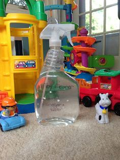 DIY toy cleaner. Made this and seems to work well. Gives me piece of mind that I am cleaning my child's toys with something non toxic.