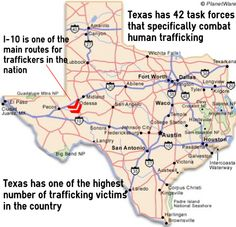 Texas has one of the highest number or trafficking victims in the country