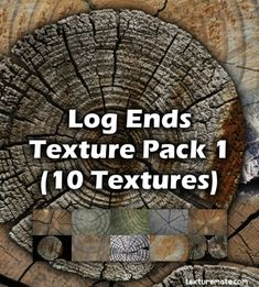 Log Ends 1 Free Texture Pack Texture Packs, Logs, Packing, Free, Bag Packaging, Magazines