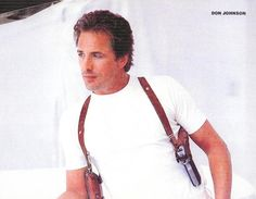 Don Johnson wore the Ted Blocker Lifeline shoulder rig beginning with the first episode after the initial Miami Vice pilot. Description from tedblockerholsters.com. I searched for this on bing.com/images