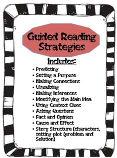 Guided Reading Strategies to help student make meaningful connections. Useful when planning mini lessons for literature or for reading conferences.
