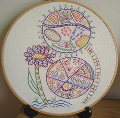 Surreal Flowers No 1  Hand Embroidery Pattern by Stitchingalways, $5.00