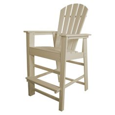 Enjoy dining or spending time outdoors with the stylish POLYWOOD Long Island Counter Chair. Made from weatherproof POLYWOOD lumber, this Adirondack style chair is perfect in the backyard or poolside, and is built to last without any of the maintenance. Patio Bar Stools, Patio Dining Chairs, Bar Chairs, Outdoor Chairs, Outdoor Furniture, Outdoor Decor, Eames Chairs, Office Chairs, Ikea Chairs