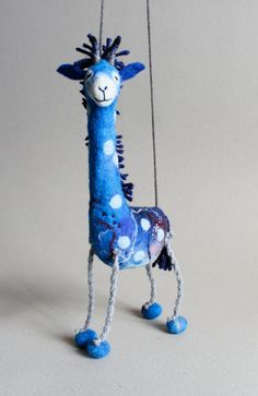 Never heard of a blue giraffe! Allow us to introduce Abimbola. (You'll be a believer soon enough.) #etsykids