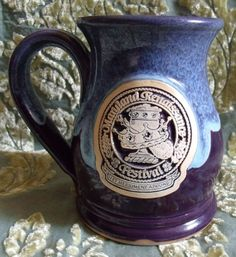 Maryland Renaissance Festival Mug Purple & Blue Cup FREE SHIPPING!
