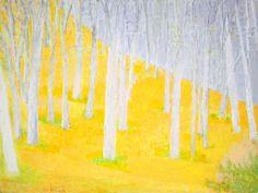 Wolf Kahn, White Trunks, 2011