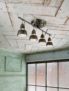 【ビンテージメタル】シンプルでモダンな4灯リモートシーリングランプ:ミッドセンチュリー,ヴィンテージ&レトロ,ブラック,Home's Style(ホームズスタイル)の天井照明の画像