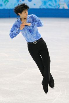 Yuzuru Hanyu of Japan competes in the men's short program figure skating at the Winter Olympics in Sochi.