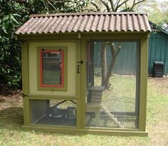 diy chicken coop..it even matches our house!
