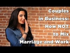Couples in #business: press play to learn how NOT to mix marriage and work. Want more award-winning advice like this? Click here: www.marieforleo.com