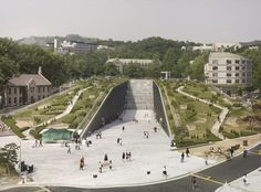 Ewha Womans University - Dominique Perrault Architecture / @archdaily   #socialcampuses
