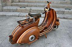 Wooden Vespa by Carlos Alberto