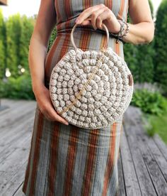 Round Chrochet bag Bubble round handbag Crochet bag Boho sack Chrochet summer bag Bubble round crochet bag Macrame bag Bubble chrochet bag