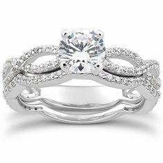1.00CT Pave Diamond Engagement Wedding Ring Set 14K White Gold by Pompeii3 Inc., http://www.amazon.com/dp/B004D9BYOU/ref=cm_sw_r_pi_dp_d3eXpb01C8CWT