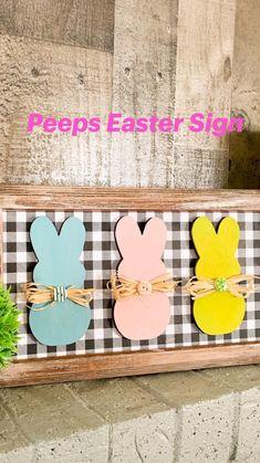 Rabbit Crafts, Bunny Crafts, Easter Crafts For Kids, Easter Projects, Easter Peeps, Hoppy Easter, Spring Crafts, Holiday Crafts, Diy Easter Decorations