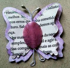 Enfeite borboleta para scrapbook