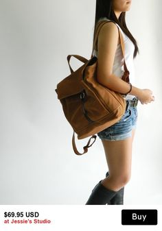 SALE 30% off   Free shipping - Tanya in Cognac // Backpack / Satchel / Rucksack / Messenger / Laptop / Tote / Women/ For