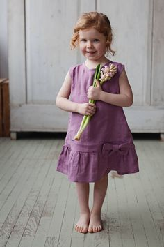Linen Girls Dress Purple girls dress Washed Linen Linen Baby Clothes Birthday party dress Spring outfit Washed linen dress for girls Mermaid Dresses, Little Girl Dresses, Girls Dresses, Flower Girl Dresses, Baby Dresses, Dress Girl, Blue Wedding Dresses, Purple Wedding, Wedding Gowns