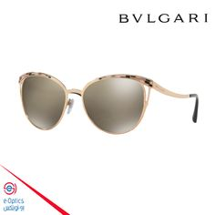 Bvlgari BV6083 Pink Gold - Light Brown Mirror Women Sunglasses e339a7c18a