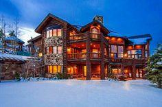 Three-story log cabin<3