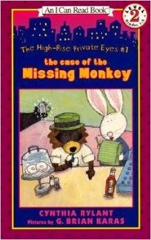 High Rise Private Eyes:  The Case of the Missing Monkey by Cynthia Rylant