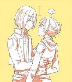 Mikasa, Annie, Mikani, attack on titan, AOT, SNK
