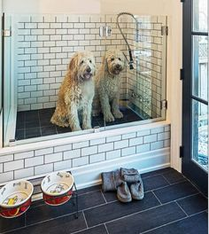 Dog wash station in a mudroom – livesimplybyannie via atticmag