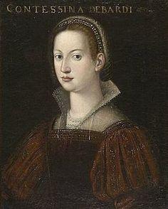Cristofano dell'Altissimo (attr.), Contessina de' Bardi.jpg wife of cosimo