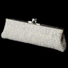 Elegant Crystal Rhinestone Mesh Evening Bag Clutch