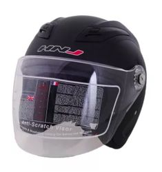 HNJ 518 Open Face Safe and Convenient Motorcycle Helmet-(MatteBlack) Remove Acne, Open Face, Motorcycle Helmets, All In One, Whitening, Facial, How To Remove, Day, Motors