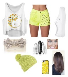 """Yellow and white"" by fantasywolf ❤ liked on Polyvore featuring Forever 21, Vans, Kate Spade, Avenue, Casetify and Burton"