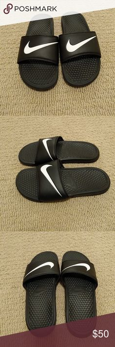 Nike Slides!!! Barely worn, in perfect condition, Nike Slides!!! Nike Shoes Athletic Shoes