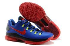 Nike Zoom Kevin Durant's KD V Elite Low Basketball shoes Royal Blue/Red