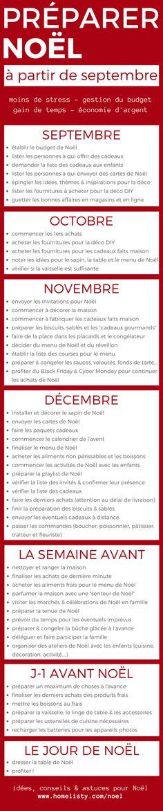 [PLANNING À TÉLÉCHARGER] : Préparer Noël à Partir de Septembre