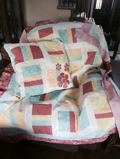 This is for one of my granddaughters a fun quilt