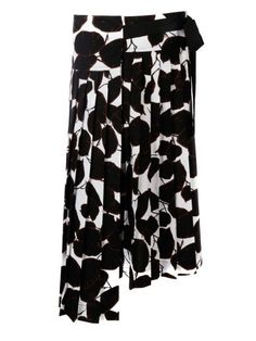 MARNI Marni Leaf Print Asymmetric Skirt. #marni #cloth #skirts