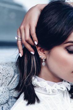 GOTHIC ROMANCE - @officialpandora Autumn Collection asymmetric earrings + rings