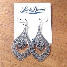 """Lucky Brand silver earrings Pretty dangles.  Measure 2.25"""" long. Lucky Brand Jewelry Earrings"""