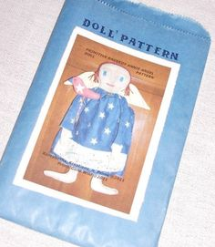 Primitive Patriotic Raggedy Angel Doll Bird Stick Doll Pattern NOV54 Sewing Pattern by FosterChildWhimsy on Etsy
