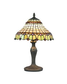 Round Stained Glass Decorative Accent Tables Lamps