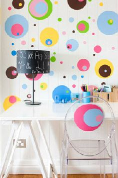 Fun idea! Chalkboard lampshade, via Louise Owens