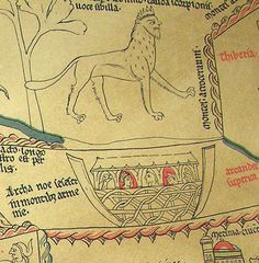 Above: Mantichora or Martikhora Below: Noah's arch Detail from Hereford mappa mundi facsimile from 1869 - Editor Rev. F.T. Hauergal, M.A. Hereford.